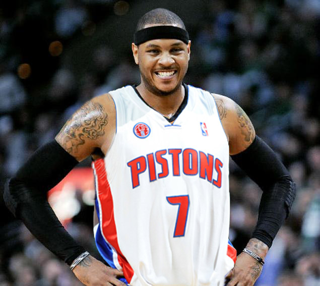 Carmelo Anthony Pistons Jersey
