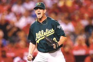Grant Balfour had a 2.59 ERA and 38 saves with the A's last season.