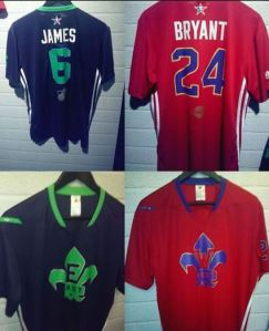 The leaked photos of the  jersey designs.